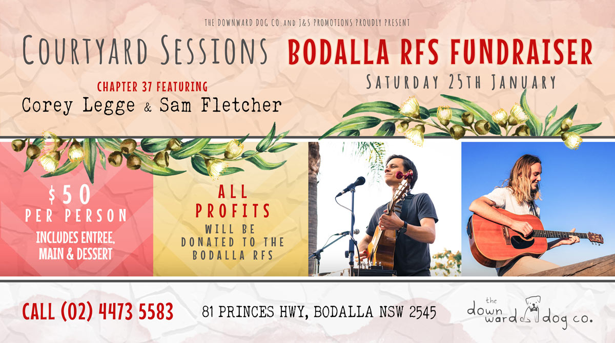 Bodalla RFS Fundraiser with Corey Legge and Sam Fletcher